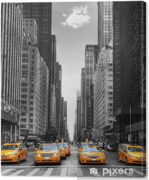 Canvas Avenue avec des taxis à New York. -