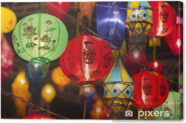 Canvas Aziatische lantaarns in lantaarnfestival - Stijlen