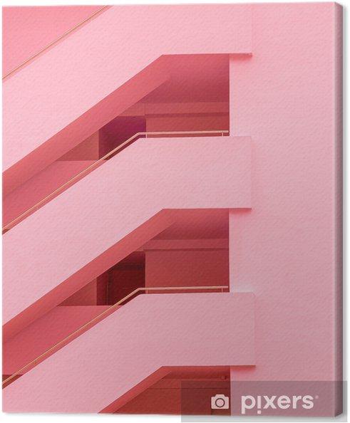 Canvas Balkons. geometrie. mode minimale roze stemming - Bloemen en Planten