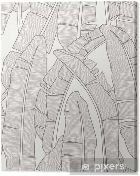 Canvas Banana Leafs Pattern - Grafische Bronnen