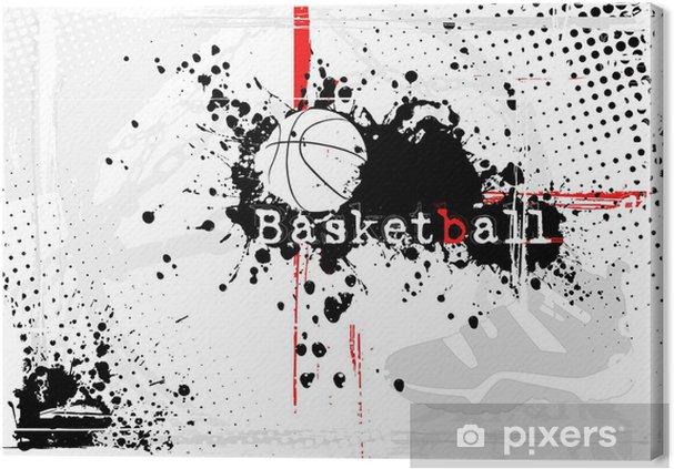 Canvas Basketbal achtergrond - Basketbal