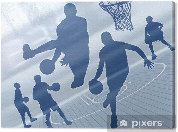 Canvas Basketbal art 2 - Basketbal