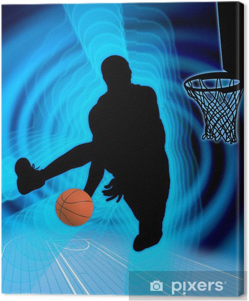 Canvas Basketbal art 4 - Basketbal
