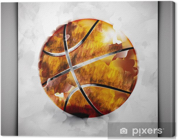 Canvas Basketbal bal aquarel - Basketbal