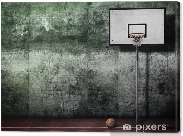 Canvas Basketbal Basket - Basketbal