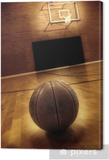 Canvas Basketbal en basketbalveld - Basketbal