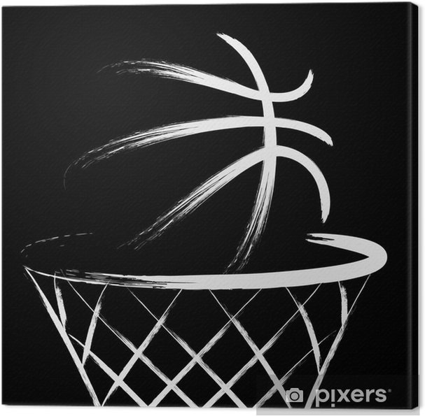 Canvas Basketbal vector - Basketbal