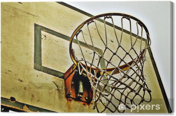 Canvas Basketball Korb - Basketbal