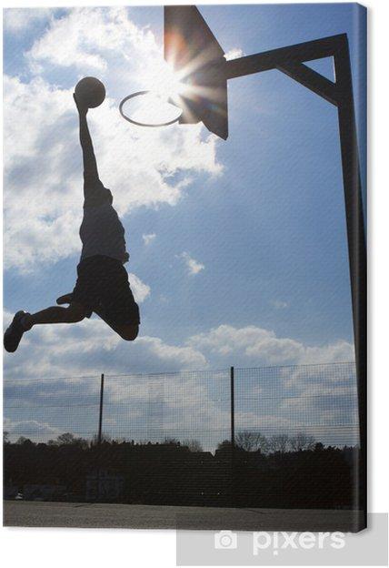 Canvas Basketballer Dunk Silhouette - Basketbal