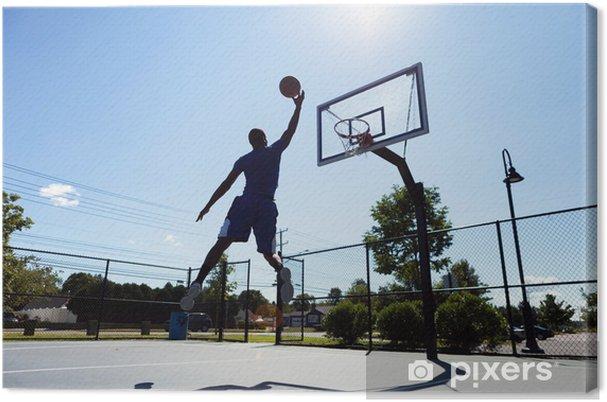 Canvas Basketballer silhouet - Basketbal
