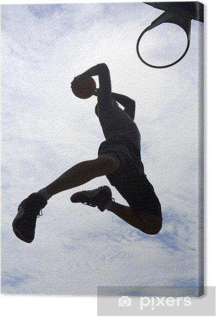Canvas Basketballer Slam Dunk Silhouette - Basketbal