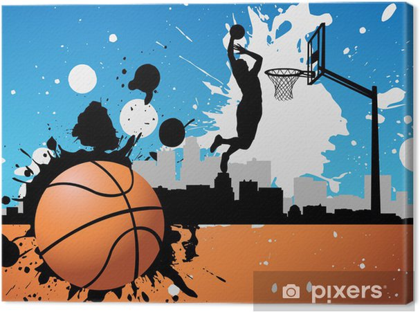 Canvas Basketballer - Basketbal