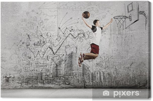 Canvas Basketballer - Basketbal