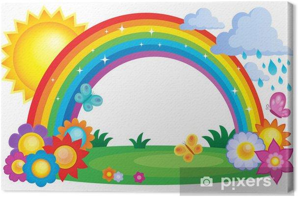 Canvas Beeld Regenboog topic 2 - Achtergrond