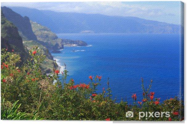 Canvas Bekijk de prachtige noordkust van Madeira, Portugal - Europa