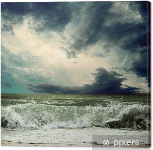 Canvas Bekijk de storm zeegezicht - iStaging
