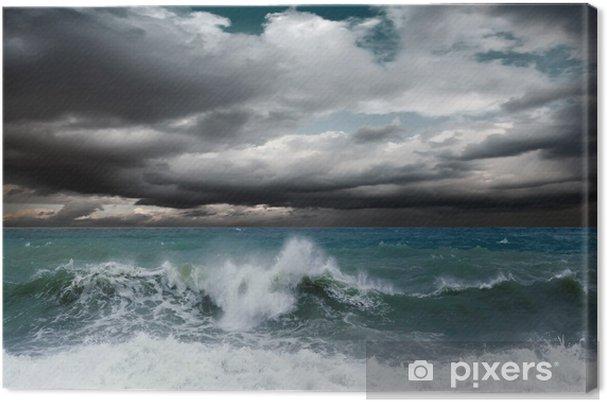 Canvas Bekijk de storm zeegezicht - Thema's