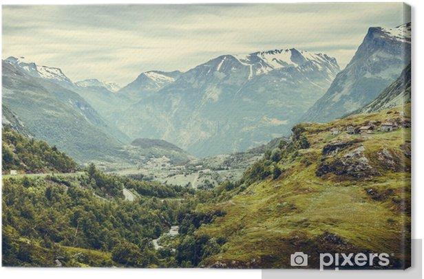 Canvas Bergenlandschap in Noorwegen. - Landschappen