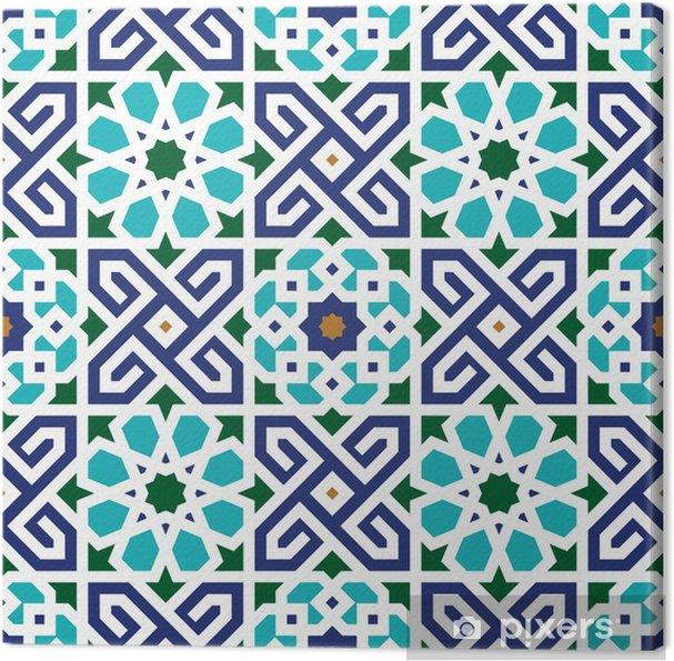 Canvas Berkane Naadloze Patroon Twee - Marokko