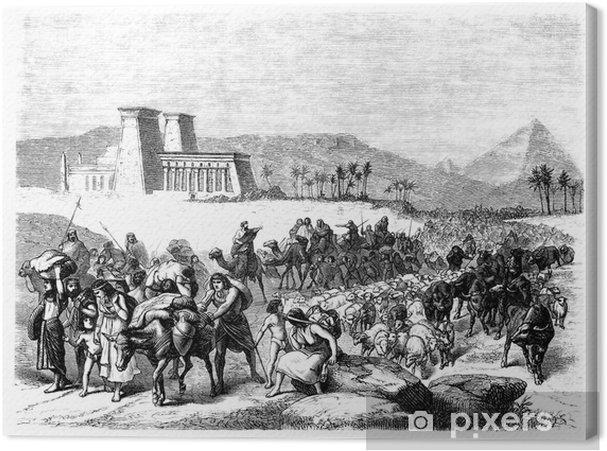 Canvas Bijbelse scène: Exodus - Religie