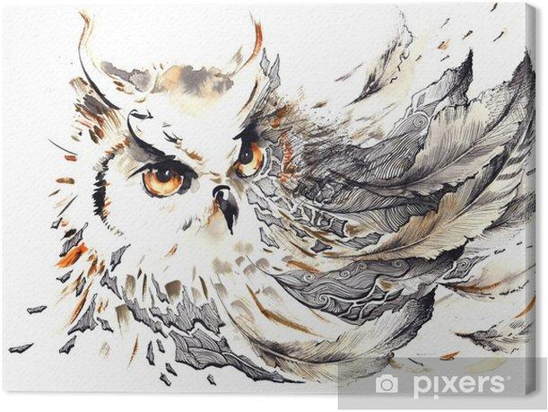 Canvas Bird - Wetenschap en natuur