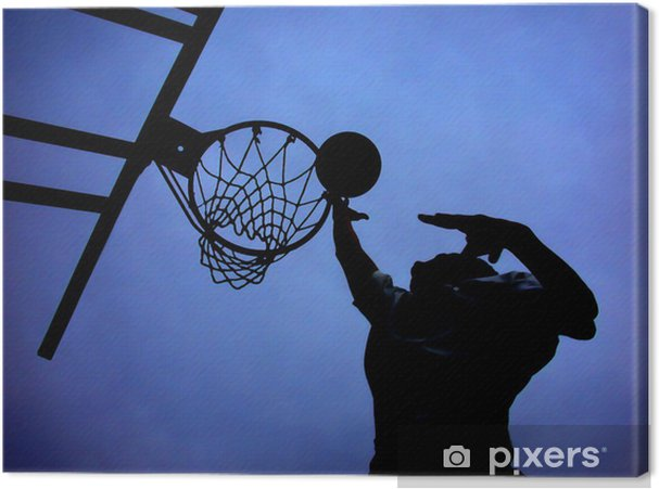 Canvas Blauw Roll - Basketbal