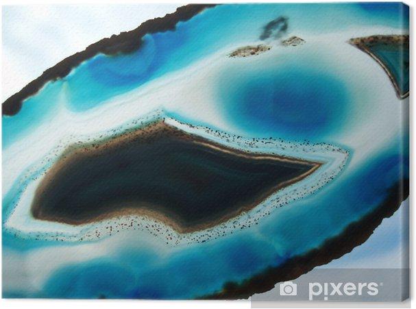 Canvas Blauwe agaat - Wonderen der Natuur