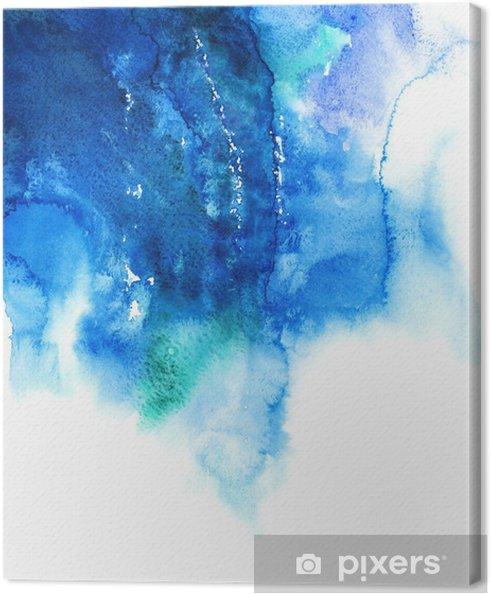 Canvas Blauwe aquarel abstract hand geschilderde achtergrond - Bestemmingen