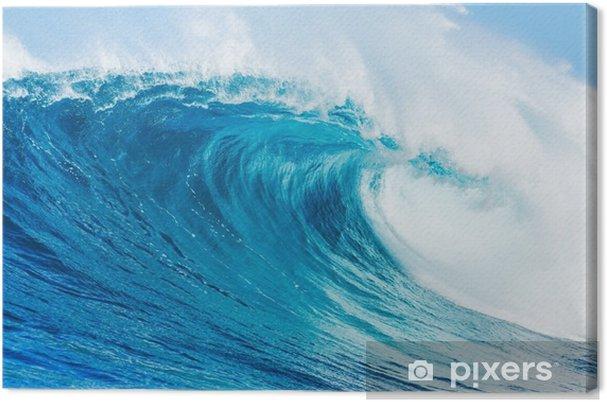Canvas Blauwe golf - Strand en de tropen