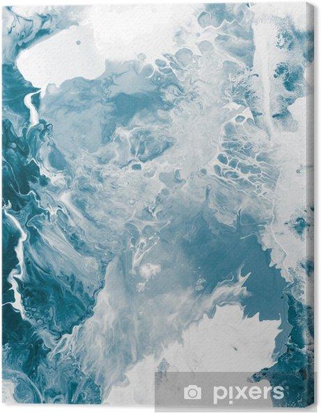 Canvas Blauwe marmeren textuur -