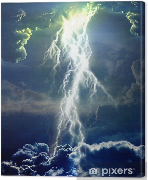 Canvas Bliksemschicht in de wolken - Andere Gevoelens