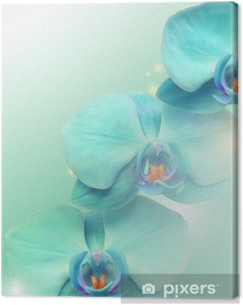 Canvas Bloem Orchidee achtergrond - Thema's