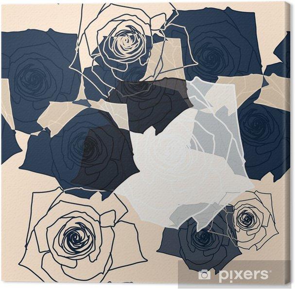 Canvas Bloem patroon naadloze, EPS-10 - Wetenschap en natuur