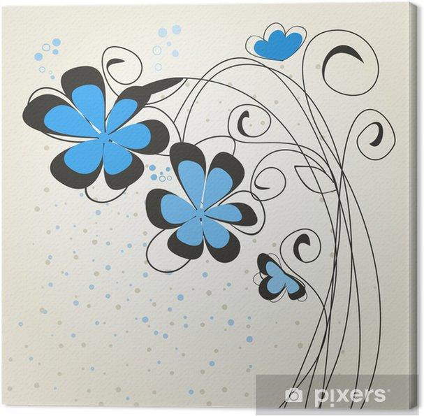 Canvas Blue_flower2 - Bloemen