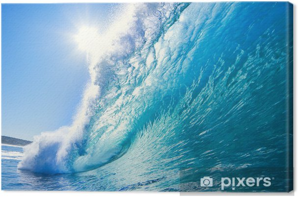 Canvas Blue Ocean Wave - Zee en oceaan