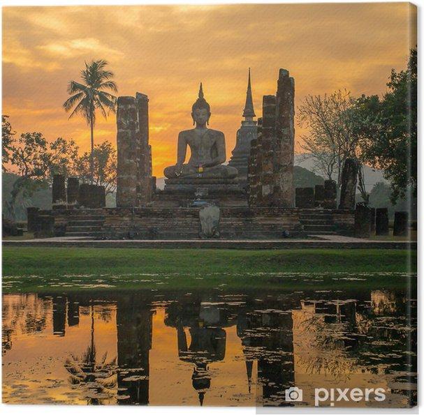 Canvas Boeddhabeeld in Wat Mahathat tempel, Sukhothai Historical Park, - Stijlen