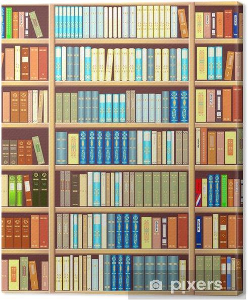 Canvas Boekenkast vol boeken - bibliotheek