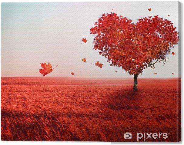 Canvas Boom van de liefde - Thema's