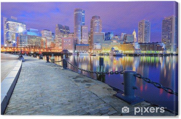Canvas Boston Harbor en Financial District Skyline - Amerika