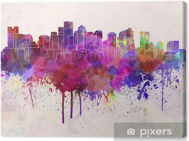 Canvas Boston skyline in aquarel achtergrond - Amerika
