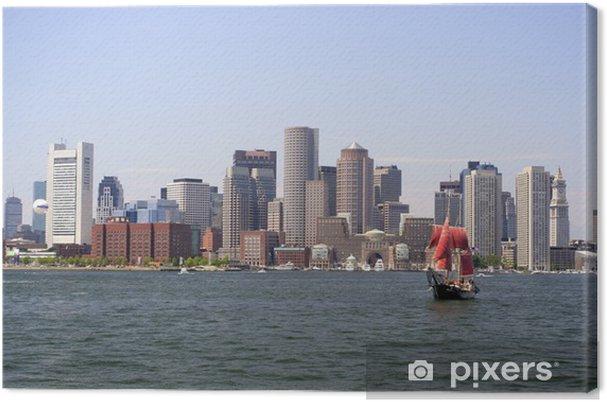 Canvas Boston skyline, passagiersboot, USA - Amerika