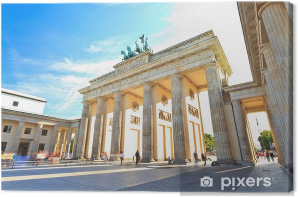 Canvas Brandenburger Tor in Berlijn, Duitsland - Duitsland