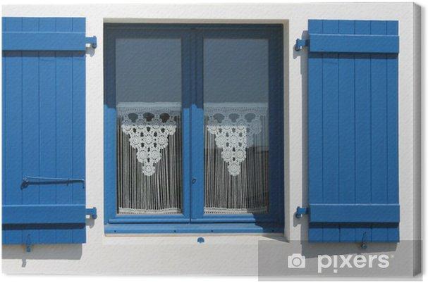 canvas bretagne zee huis deur raam shell borduurwerk gordijn