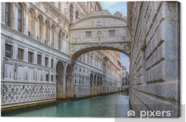 Canvas Brug der Zuchten (Ponte dei Sospiri). Venetië. Italië. - Europese steden