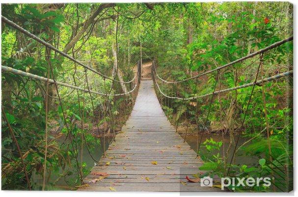 Canvas Brug naar de jungle, Khao Yai National Park, Thailand - Stijlen