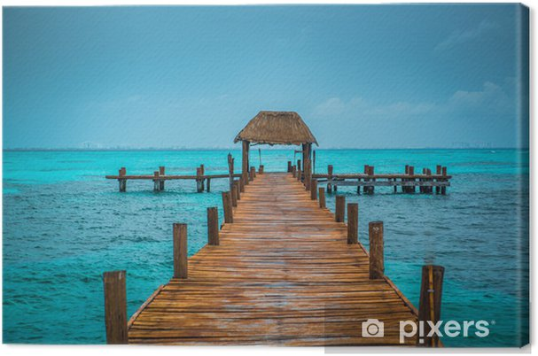 Canvas Caribbean pier - Thema's