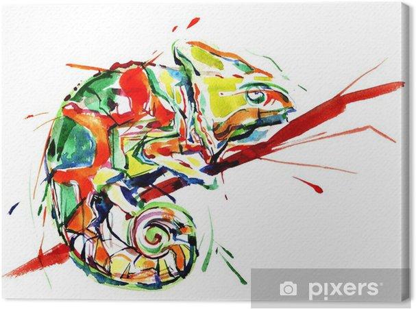 Canvas Chameleon - Wetenschap en natuur