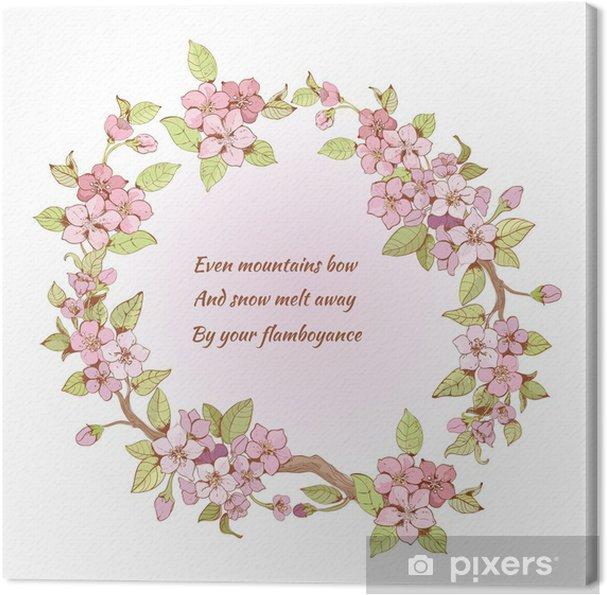 Canvas Cherry Frame Met Gedicht
