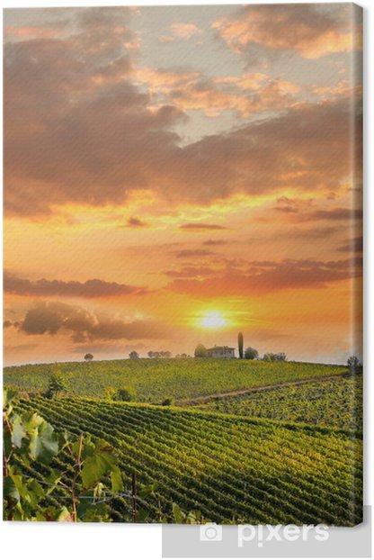 Canvas Chianti, beroemde wijngaard in Italië - Thema's