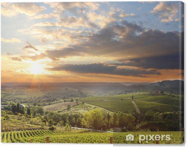 Canvas Chianti wijngaard landschap in Toscane, Italië - iStaging